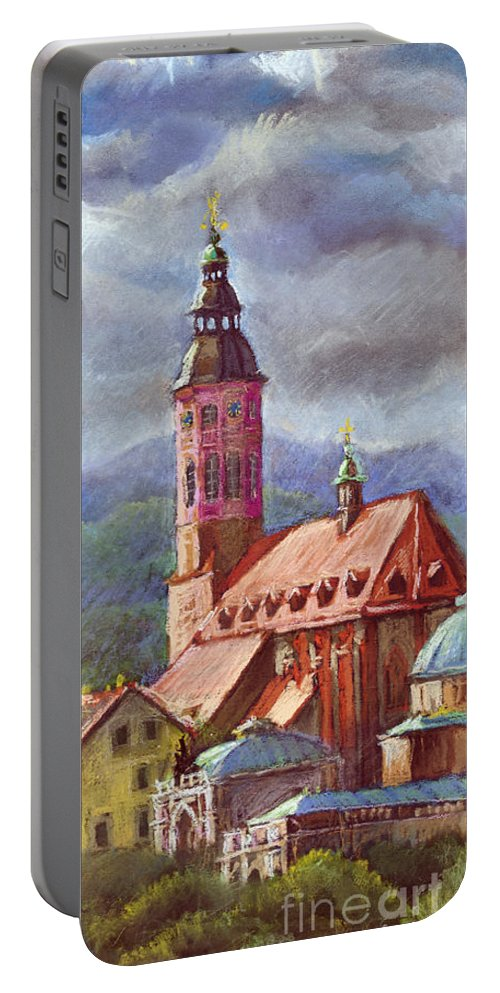 Pastel.germany Portable Battery Charger featuring the painting Germany Baden-baden 05 by Yuriy Shevchuk