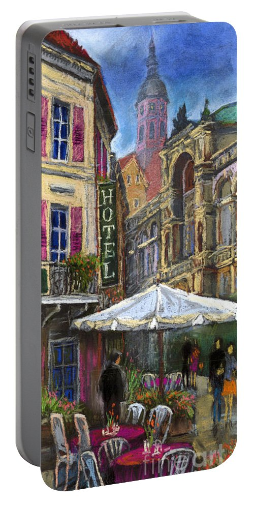Pastel Portable Battery Charger featuring the painting Germany Baden-baden 07 by Yuriy Shevchuk