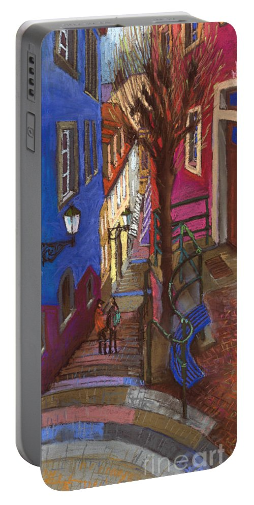 Pastel Portable Battery Charger featuring the painting Germany Baden-baden 08 by Yuriy Shevchuk