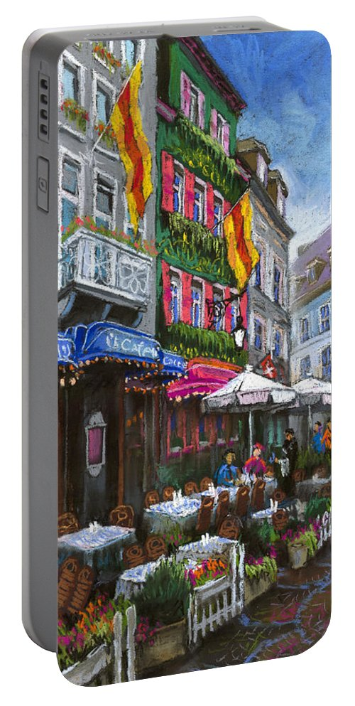 Pastel Portable Battery Charger featuring the painting Germany Baden-baden 10 by Yuriy Shevchuk
