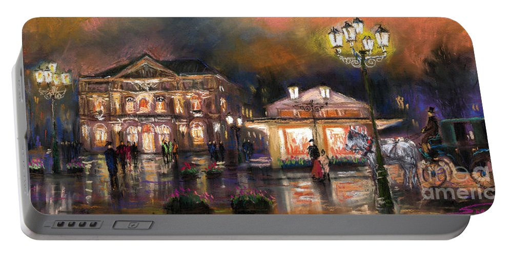 Pastel Portable Battery Charger featuring the painting Germany Baden-baden 14 by Yuriy Shevchuk