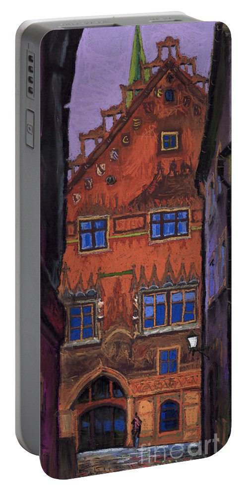 Pastel Portable Battery Charger featuring the painting Germany Ulm by Yuriy Shevchuk