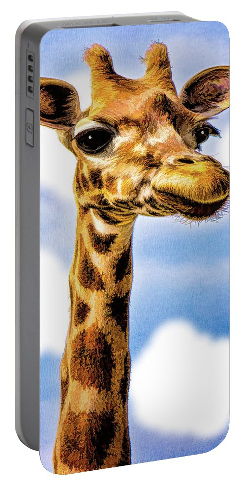 Gertrude Portable Battery Charger featuring the photograph Gertie by Chris Lord