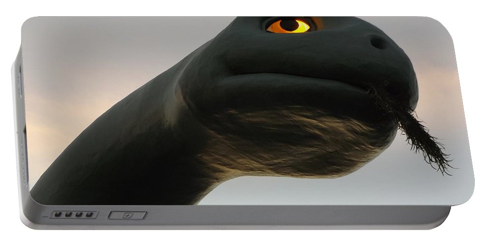 Disney Portable Battery Charger featuring the photograph Gertie The Dinosaur by Erick Schmidt