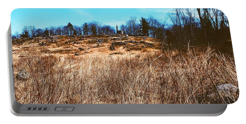 Gettysburg Portable Battery Charger featuring the photograph Gerttysburg Series Little Round Top by Paul Kercher