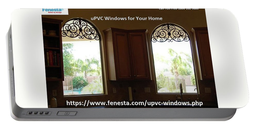 Upvc Windows For Home Portable Battery Charger featuring the glass art Get Your Home Beautiful By Upvc Windows by Fenesta Building