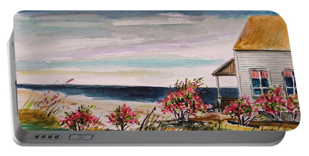 Beach Portable Battery Charger featuring the painting Getaway by John Williams