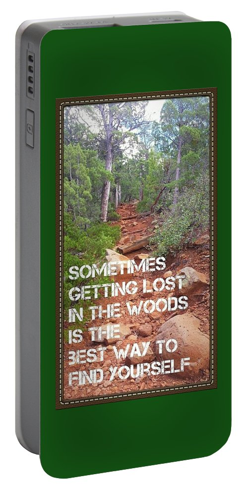 Woods Portable Battery Charger featuring the digital art Getting Lost In The Woods by Bonny Puckett