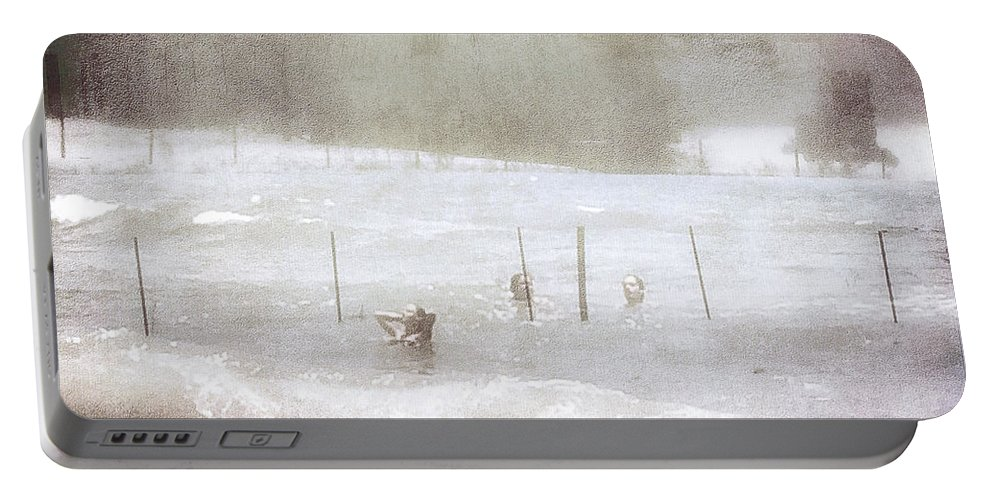 Digital Art Portable Battery Charger featuring the digital art Ghost And Shadows II - Farm, Sea, And Sun by Melissa D Johnston