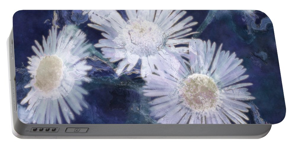 Asters Portable Battery Charger featuring the painting Ghost Flowers by RC DeWinter