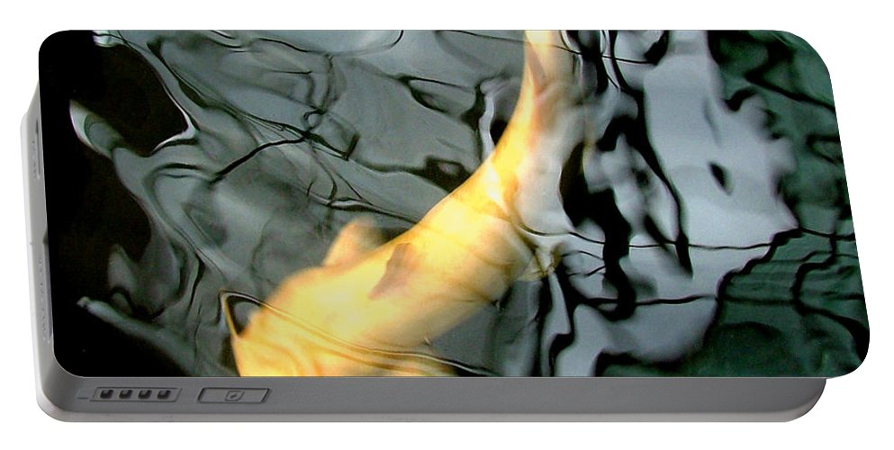 Ghost Portable Battery Charger featuring the photograph Ghost Koi Carp Fish by Heather Lennox