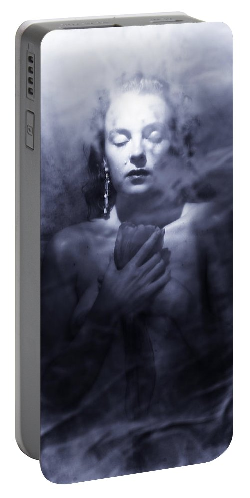 Woman Portable Battery Charger featuring the photograph Ghost woman by Scott Sawyer