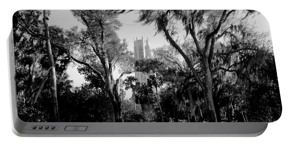 Bok Tower Portable Battery Charger featuring the photograph Ghostly Bok Tower by David Lee Thompson