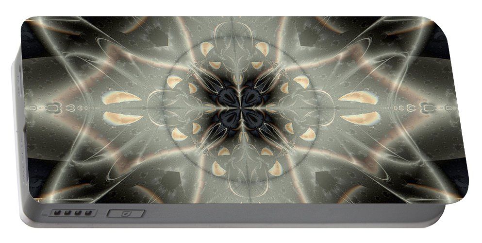 Abstract Portable Battery Charger featuring the digital art Ghostly Memories by Jim Pavelle