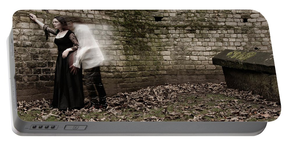 Ghost Portable Battery Charger featuring the photograph Ghosts In The Crypt by Scott Sawyer