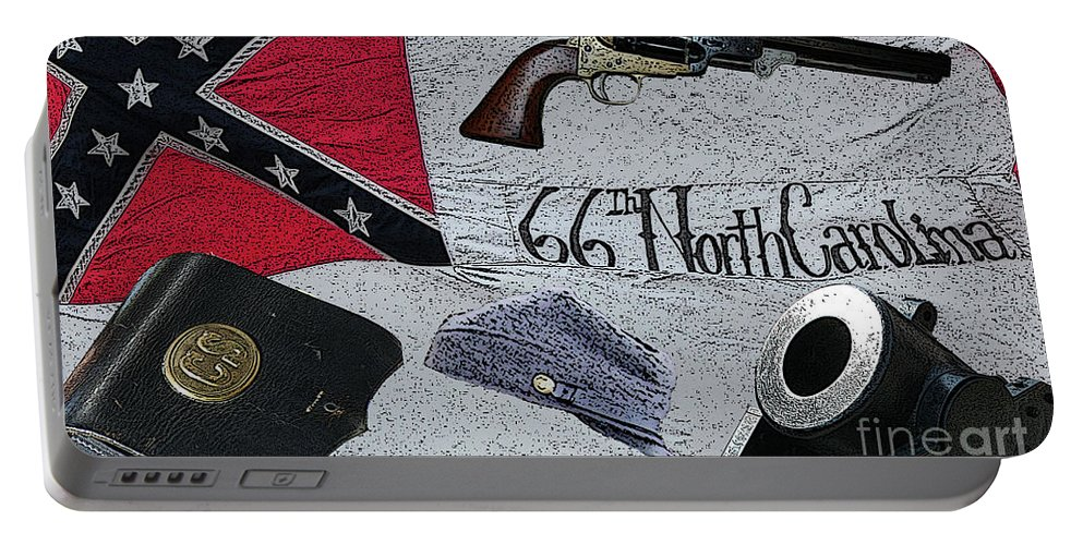 Civil War Portable Battery Charger featuring the digital art Ghosts Of The Confederacy by Tommy Anderson
