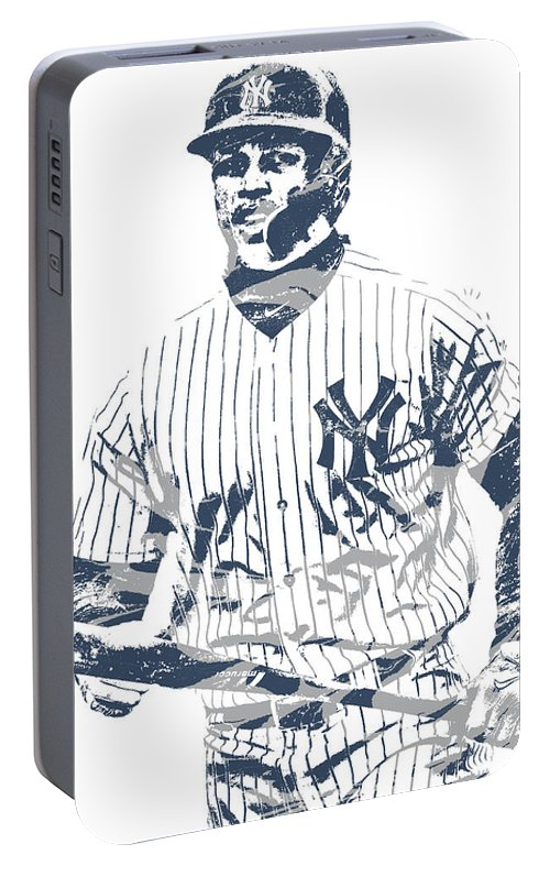 cf032f27a90 Giancarlo Stanton New York Yankees Pixel Art 4 Portable Battery Charger for  Sale by Joe Hamilton