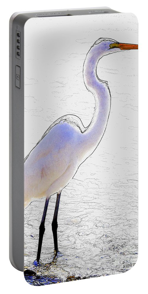 Giant Egret Portable Battery Charger featuring the photograph Giant Beauty by Deborah Benoit