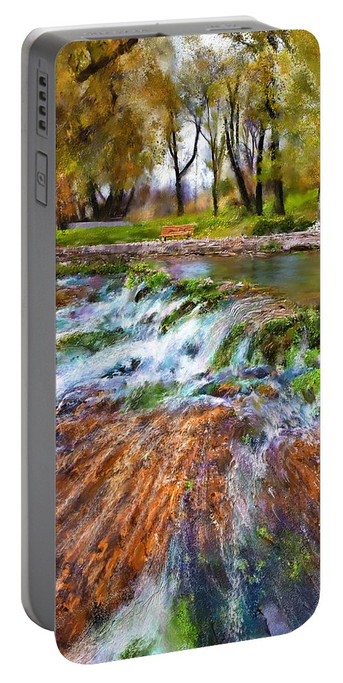 Giant Springs Portable Battery Charger featuring the digital art Giant Springs 2 by Susan Kinney