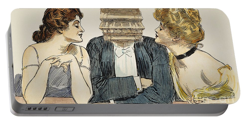 1903 Portable Battery Charger featuring the photograph Gibson Girls, 1903 by Granger