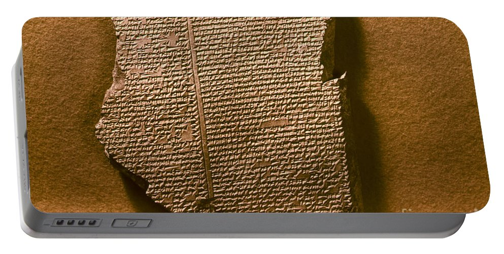 7th Century B.c. Portable Battery Charger featuring the photograph Gilgamesh, 7th Century B.c by Granger