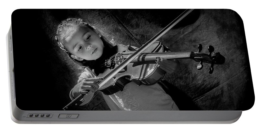 Musician Portable Battery Charger featuring the photograph Gilrs And Music by Kevin Cable