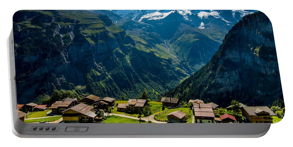 Gimmelwald Portable Battery Charger featuring the photograph Gimmelwald In Swiss Alps - Switzerland by Gary Whitton