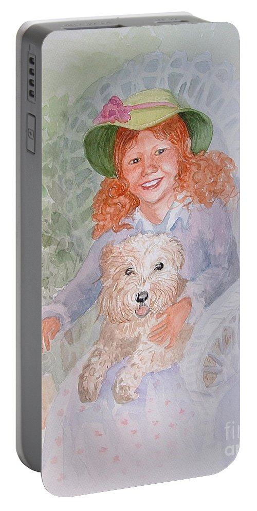 Portrait Portable Battery Charger featuring the painting Ginger by Marilyn Smith