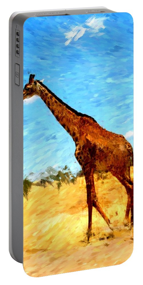 Giraffe Portable Battery Charger featuring the photograph Giraffe by David Lane