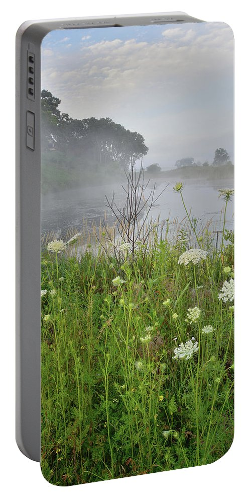 Black Eyed Susan Portable Battery Charger featuring the photograph Glacial Park Pond Reflection by Ray Mathis