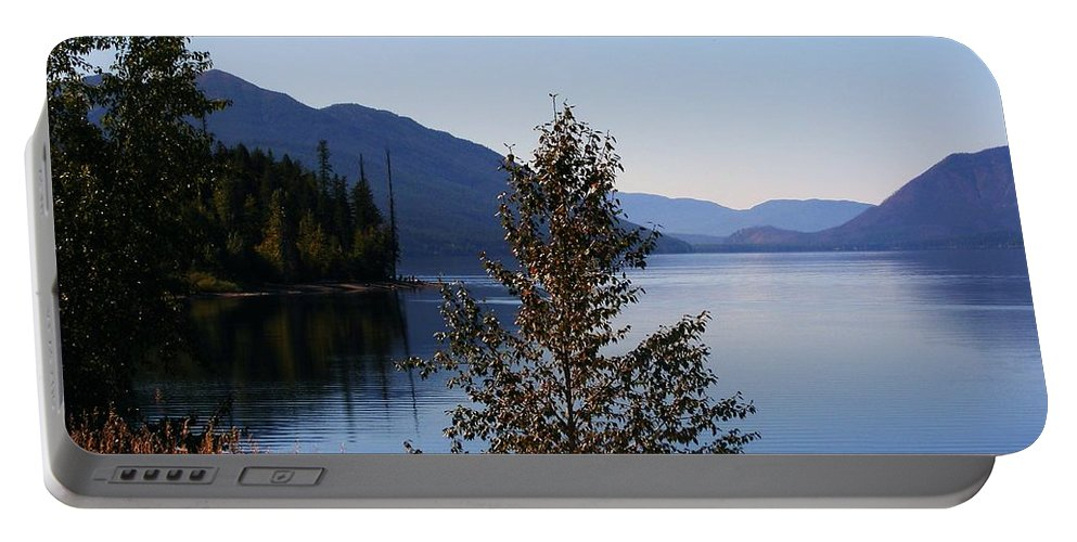 Lakes Portable Battery Charger featuring the photograph Glacier Lake by Marilyn Smith