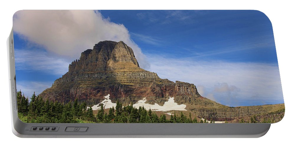 Glacier National Park Mountain Clouds Nature Outdoors Landscape Portable Battery Charger featuring the photograph Glacier National Park At Logan Pass by Shari Jardina