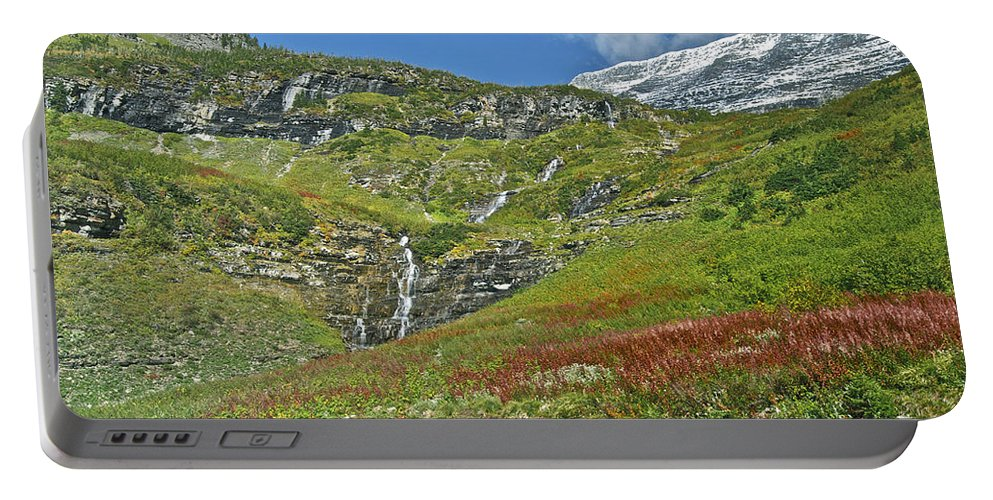 Landscape Portable Battery Charger featuring the photograph Glacier National Park by Michael Peychich