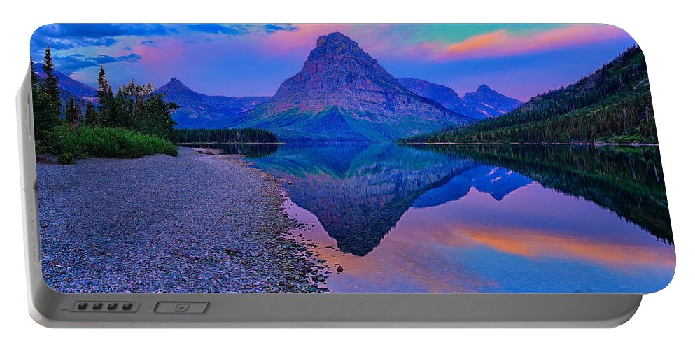 Glacier National Park Portable Battery Charger featuring the photograph Glacier National Park Poster by Greg Norrell