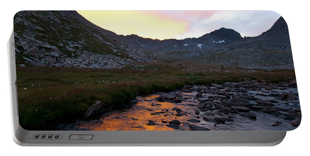 Gladstone Peak Portable Battery Charger featuring the photograph Gladstone Peak And Mount Wilson Sunrise Landscape by Cascade Colors