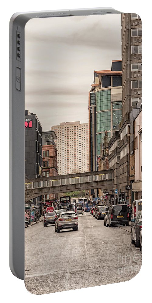 Renfrew Portable Battery Charger featuring the photograph Glasgow Renfield Street by Antony McAulay