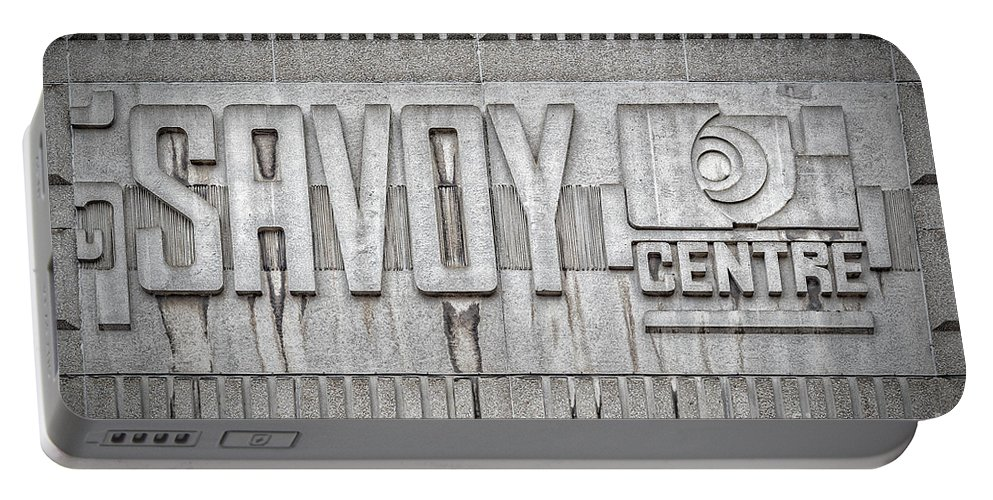 Glasgow Portable Battery Charger featuring the photograph Glasgow Savoy Centre by Antony McAulay