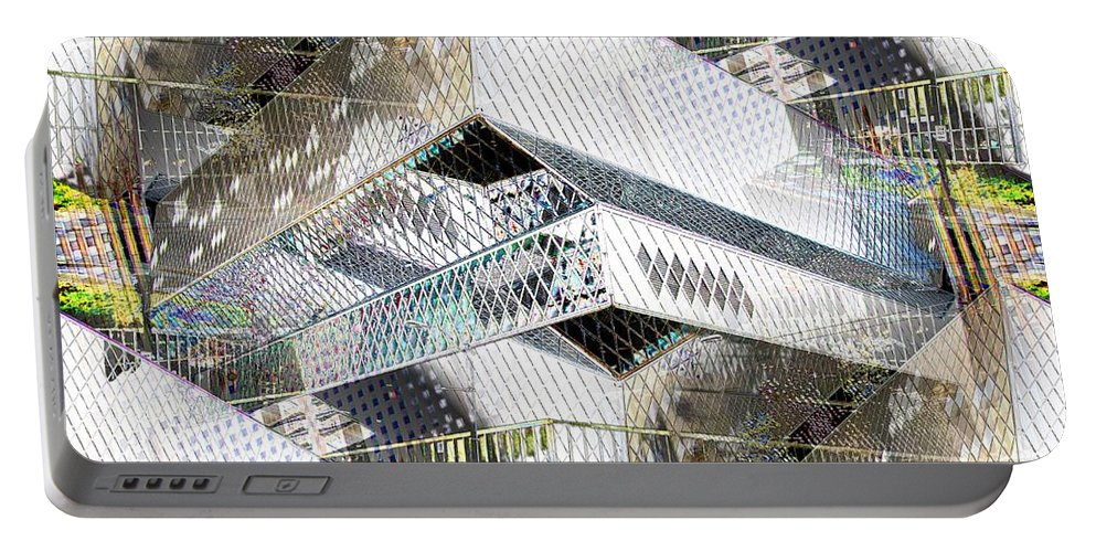 Seattle Portable Battery Charger featuring the photograph Glass House by Tim Allen