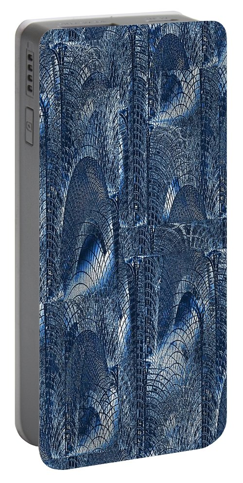 Glass Portable Battery Charger featuring the digital art Glass Palace by Tim Allen