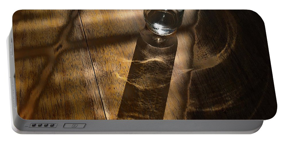 Glass Portable Battery Charger featuring the photograph Glass Shadow by Mykel Davis