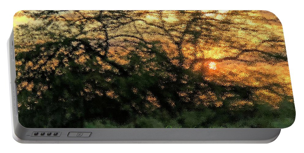 Sunset Portable Battery Charger featuring the photograph Glass Sunset Hawaii by Heather Coen