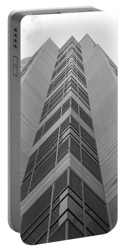 Architecture Portable Battery Charger featuring the photograph Glass Tower by Rob Hans