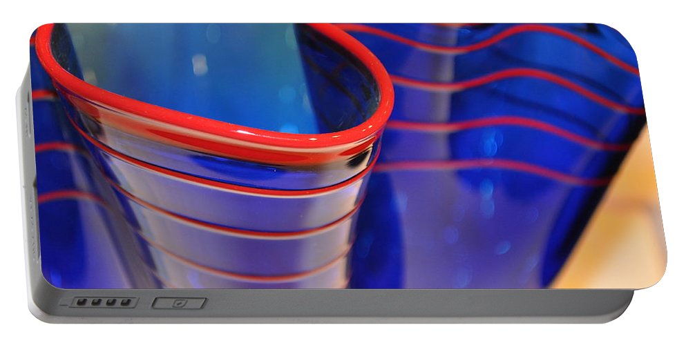 Glass Portable Battery Charger featuring the photograph Glassworks 1 by Marty Koch