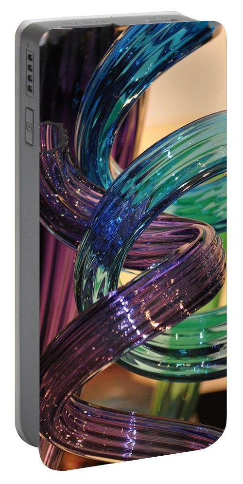 Glass Portable Battery Charger featuring the photograph Glassworks 2 by Marty Koch