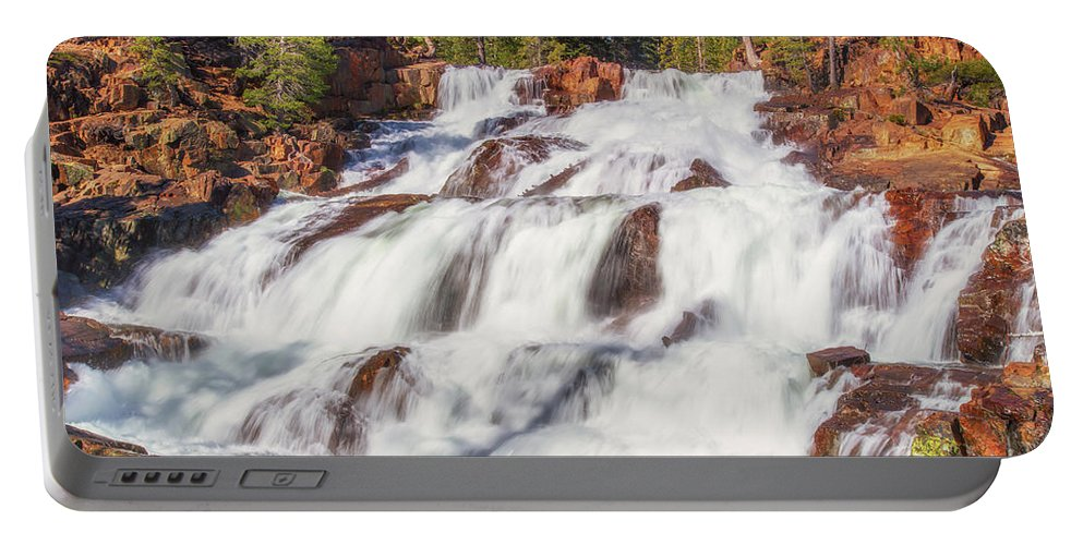 Landscape Portable Battery Charger featuring the photograph Glen Alpine Falls In Early Morning Light by Marc Crumpler