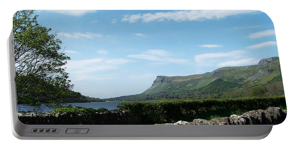 Irish Portable Battery Charger featuring the photograph Glencar Lake With View Of Benbulben Ireland by Teresa Mucha