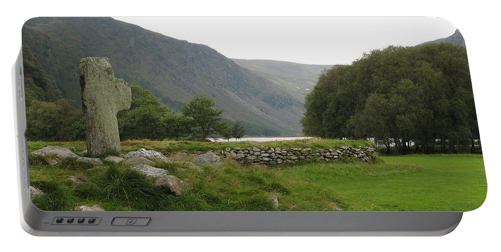 Glendalough Portable Battery Charger featuring the photograph Glendalough by Kelly Mezzapelle