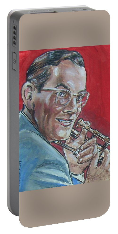 Glenn Miller Portable Battery Charger featuring the painting Glenn Miller by Bryan Bustard