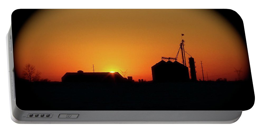 Color Photography Portable Battery Charger featuring the photograph Global Sunset by Sue Stefanowicz
