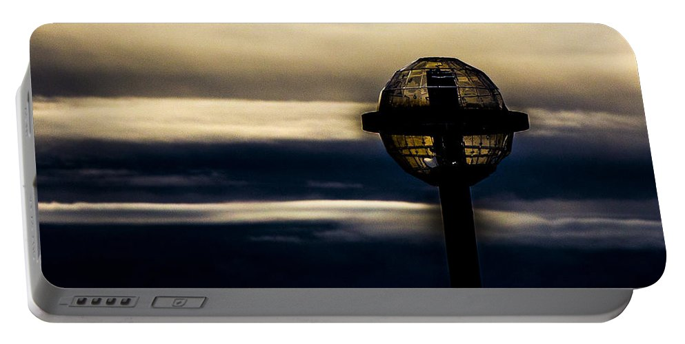 Photo Walk Portable Battery Charger featuring the photograph Globe Lamp by Angus Hooper Iii
